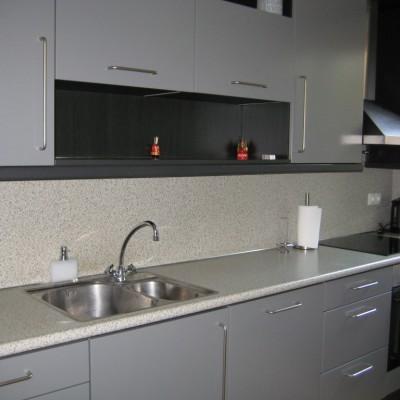 keuken 2 na het spuiten