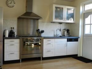 keuken na het spuiten