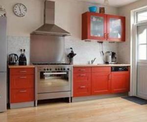 keuken voor het spuiten
